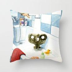 The bath Throw Pillow