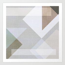 Creame Geometric Art Print