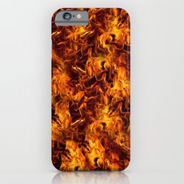 Fire and Flames Pattern iPhone Case