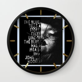 The Blues Tells A Story Wall Clock