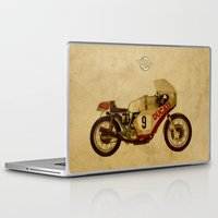 ducati Laptop & iPad Skins featuring Ducati Number 9 by Larsson Stevensem