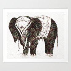 Festive Elephant love Art Print