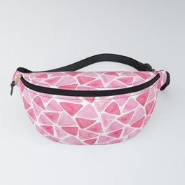 Pink  watercolor triangles Fanny Pack