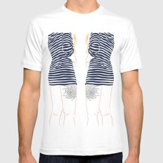 Stripes Mens Fitted Tee White MEDIUM