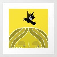 Paul & Blackbird Art Print