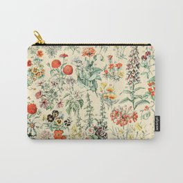 Wildflower Diagram // Fleurs II by Adolphe Millot XL 19th Century Science Textbook Artwork Carry-All Pouch