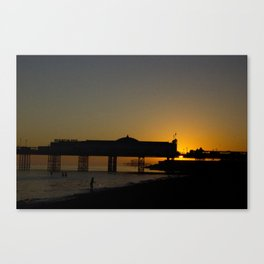 September Sunset at Brighton Pier Canvas Print