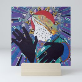 Pious Pogona (Bearded Dragon Saint) Mini Art Print