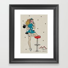 Shelly Johnson Pin-up Framed Art Print