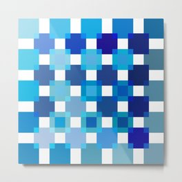 50 / 114 Squares of BLUE - Living Hell Metal Print