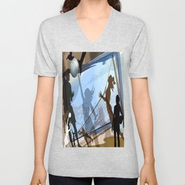 Anyone For Volleyball? Unisex V-Neck