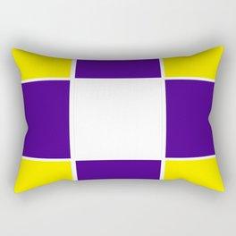 Team Colors 3...purple ,yellow Rectangular Pillow