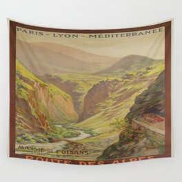 Vintage poster - Route des Alpes, France Wall Tapestry