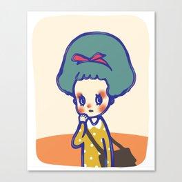 Thinking girl  Canvas Print