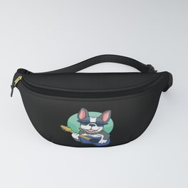 Cool French Bulldog Guitarist Fanny Pack