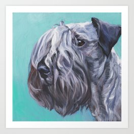The Cesky Terrier dog portrait from an original painting by L.A.Shepard Art Print