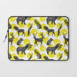 half animals pattern Laptop Sleeve