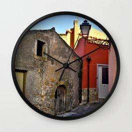 Medieval village of Sicily Wall Clock