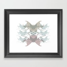 Scarabs Faded Framed Art Print