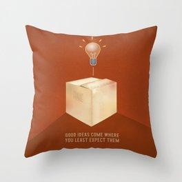 Good ideas – red Throw Pillow