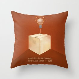 Good ideas – red Throw Pillow
