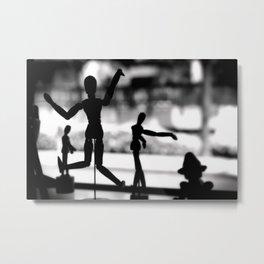 Wooden Puppet Metal Print
