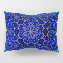 Bright Blue Kaleidoscope Pillow Sham