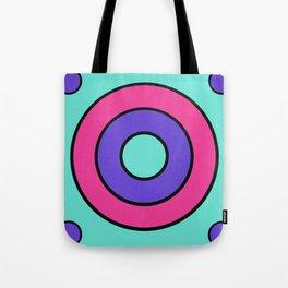 Blue target Tote Bag