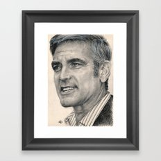 George Clooney Traditional Portrait Print Framed Art Print