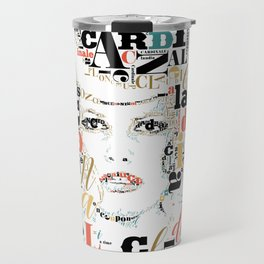 Typographic image Claudia Cardinale once upon a time in the west color 2 Travel Mug