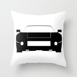 Race Car Icon Throw Pillow