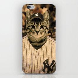 Baseball Cat iPhone Skin