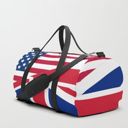 American and Union Jack Flag Duffle Bag