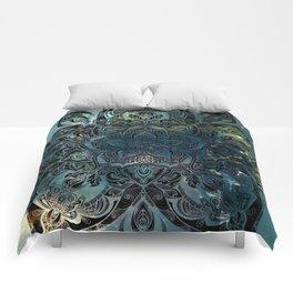 Flower mandala -night Comforters