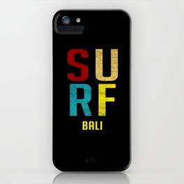 Surf Bali Distressed Retro iPhone Case