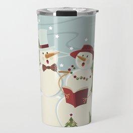 Christmas Song / Snowmen Travel Mug