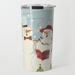 Christmas Song / Snowmen Travel Mug