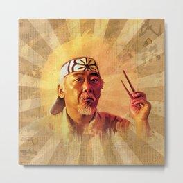 Mr Miyagi Metal Print