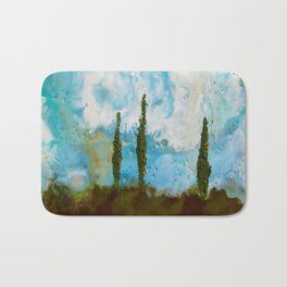 Tuscan Sunset original Encaustic wax painting by Seasons Kaz Sparks Bath Mat