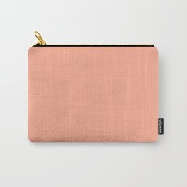 Peach Solid Color Carry-All Pouch