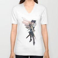 fire emblem V-neck T-shirts featuring Chrom - Fire Emblem Awakening  by MKwon