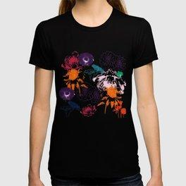 fall floral gray T-shirt