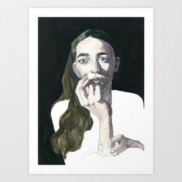 Pensive Jayna Art Print