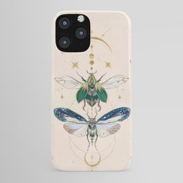 Moon insects iPhone Case