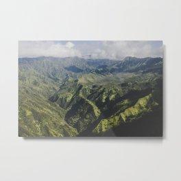 Mountain Ridges - Kauai, Hawaii Metal Print