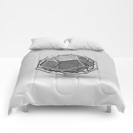 Dodecahedron Trine Comforters