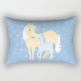 Unicorns. Mom and baby Rectangular Pillow
