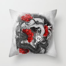 Two dragons Throw Pillow