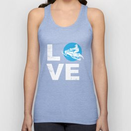 Love Snowmobile Funny Winter Sports Sled Gift Idea Unisex Tank Top