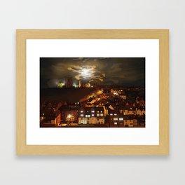 Whitby By Moonlight  Framed Art Print